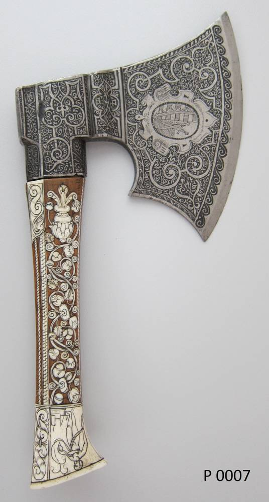 German hand axe, late 16th century.German hand axe, late 16th century copy